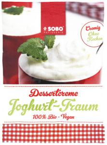 Joghurt-Traum Creme Sobo Naturkost bio vegan Nachtisch Dessert