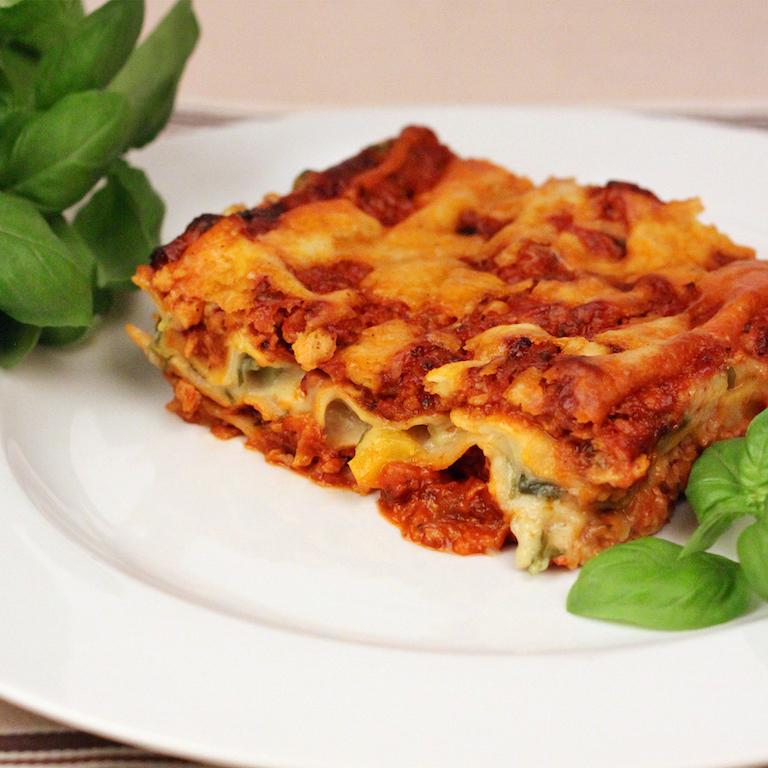 lasagne Rezept Sojaschnetzel sobo naturkost vegetarisch vegan fleischersatz